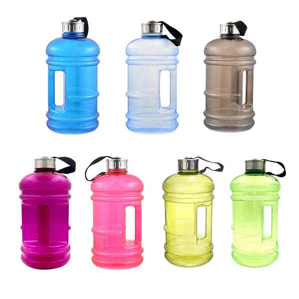 2. 2l Büyük Kapasiteli Plastik Su Şişeleri Açık Spor Gym Fitness Eğitim Kamp Koşu Egzersiz Su Şişesi