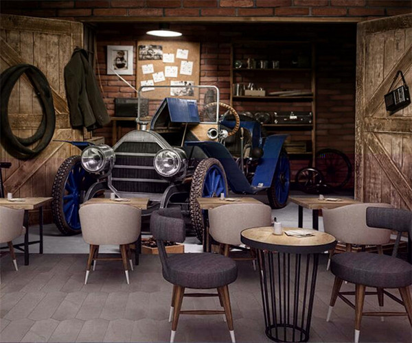 Custom mural Vintage series wallpaper theme Cafe Bar restaurant KTV living room decoration wood old car garage wallpaper mural