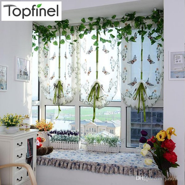 2019 Top Finel Butterfly Tulle For Window Roman Shades Window Curtain Blinds Embroidered Sheer Curtains For Kitchen Living Room Panel From Benyen