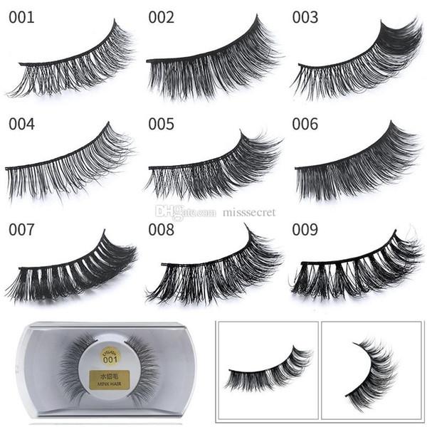 76a7618f7b2 52 styles 100% 3D Real Mink Eyelashes natural long thick false eyelashes  fake eye lashes