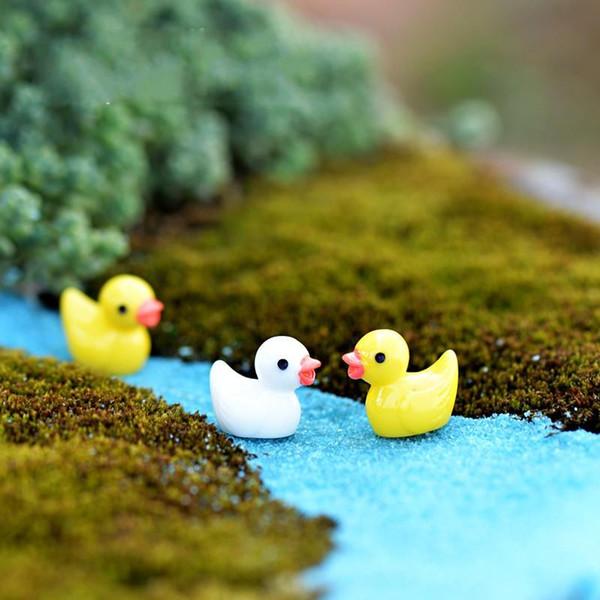 Yellow Duck Fairy Garden Miniature Casa Ornamento Bambola Giocattolo Ciondolo Muschio Lichene Micro Paesaggio Arte Resina Naturale Artigianato Regali 0 2cj ff