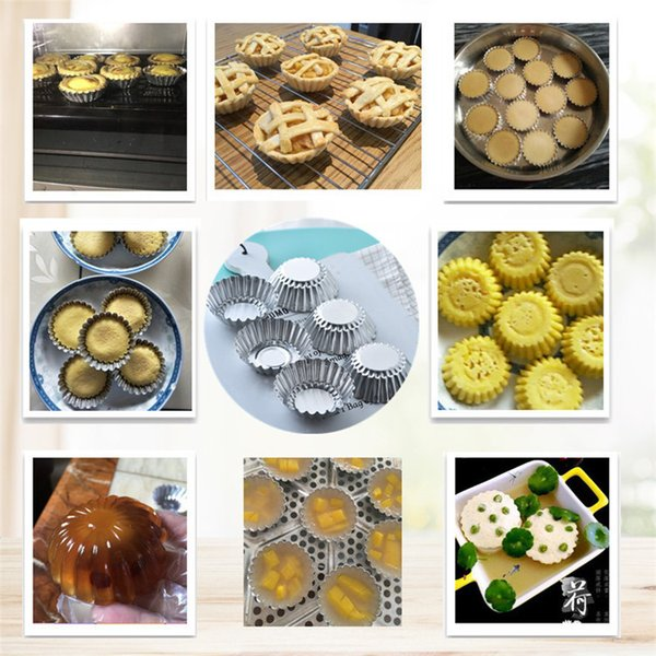 Hot 200pcs Egg Tart Mould Aluminum Cupcake Cake Cookie Mold Pudding Mould Baking Tool Jelly mould T1I106