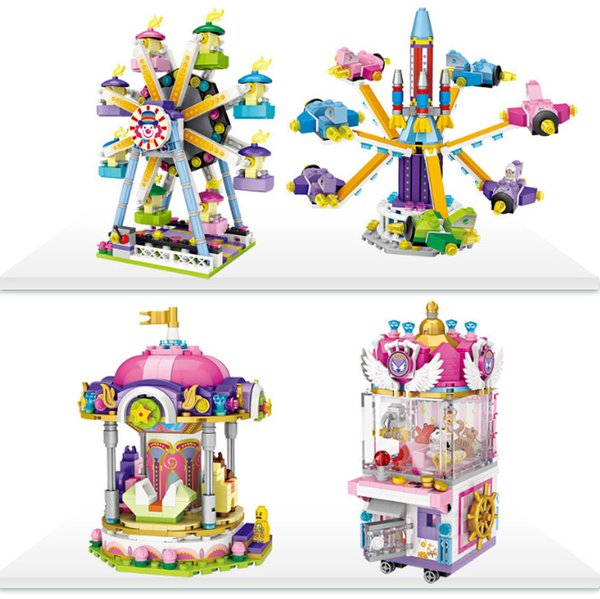 DIY creators mini diamond building block amusement park series nanoblock bricks educational model toys for children gifts