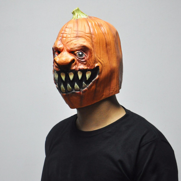 2018 Hot Sale Halloween Pumpkin Designs Masks Scary Latex Party Mask Adult Cosplay Props Fancy Dress