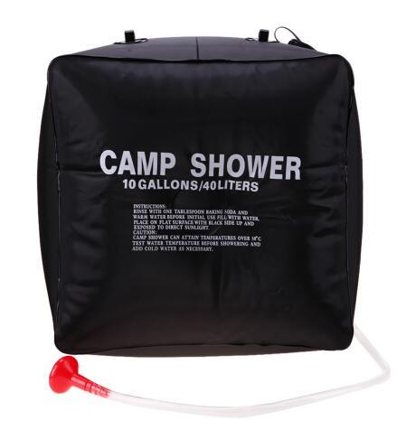 Pliable Camping En Plein Air Randonnée Energie Solaire Chauffée Camp Sac De Douche 40L PVC Sac De Stockage De L'eau En Gros
