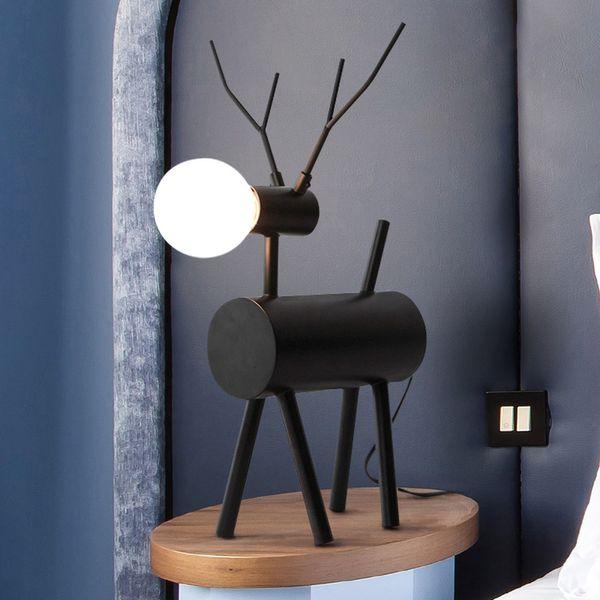 Acquista Nordic Lampade Da Tavolo Camera Da Letto Camera Da Letto Soggiorno  Moderno Creativo Camera Da Letto Cervi Lanterna Negozio Di Abbigliamento ...