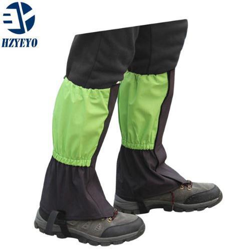 HZYEYO 1 Pair Waterproof Camping Hiking Snow Leg Gaiters Outdoor Skiing Walking Shin Leg Protect Equipment Climbing Accessory