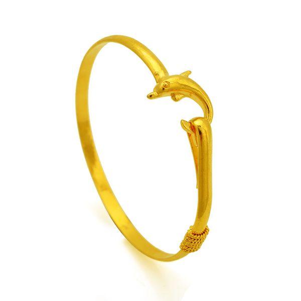 100pcs/lot hot gift factory price Gold charm bangle Fine Noble mesh Dolphin bracelet fashion jewelry 1834