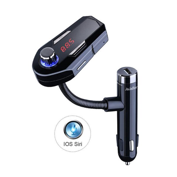 FM25 Bluetooth Handsfree Car Kit FM Transmitter Support U Disk AUX 3.5mm Stereo MP3 Music Player Dual USB Car Charger