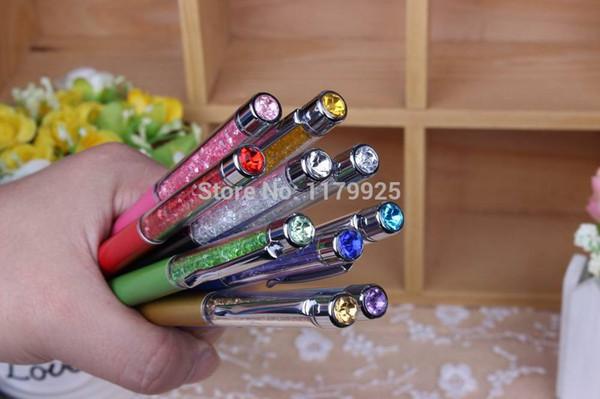 5 unids / lote nuevo regalo promocional bolígrafo diamante cristal metal amantes de la pluma envío gratis