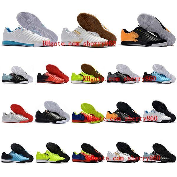 2018 mens soccer cleats Tiempo Ligera IV IC TF TIEMPOX football boots turf indoor soccer shoes chuteiras de futebol TimpoX Finale leather