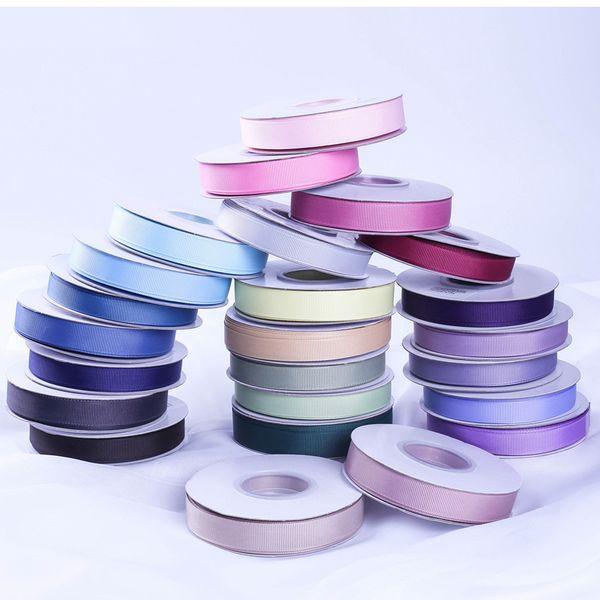 Grosgrainband Doppelseitig beschichtet 10mm 3/8 '' 15mm 5/8 '' 25mm 1 '' 38mm 10 Meter Yard Rollenware Schnittmuster 196 Farben Großhandel Handwerk