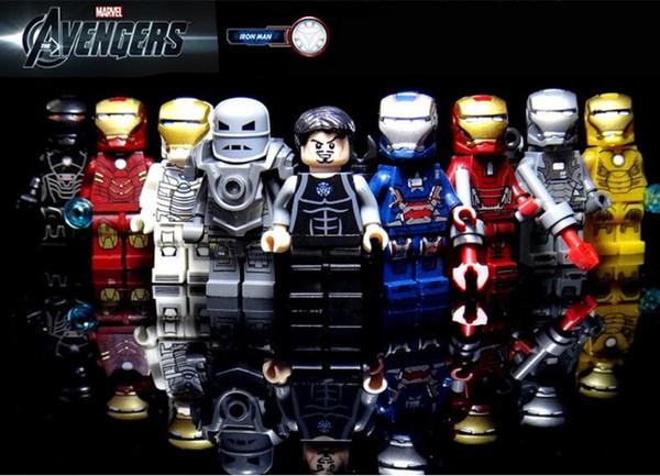 Decool The Avengers 9style iron man Aberdeen Toy doll Assemblaggio di supereroi blocca 0160-0168 migliori regali spedizione gratuita
