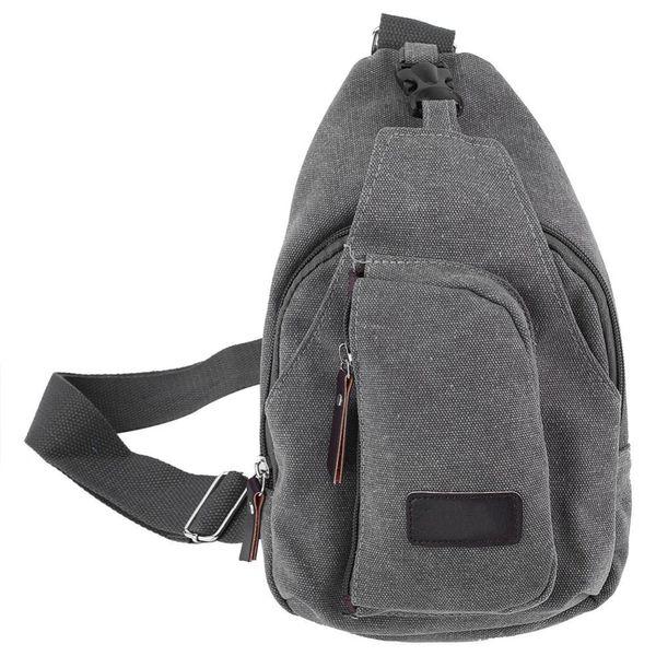 Running Bag Schulter Rucksack Unisex Canvas Cross Body Sling Rucksack für Outdoor-Aktivitäten Camping Jogging Bag