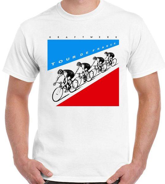 Tour de France-Kraftwerk Mens Müzik T-Shirt Autobarn Yeni Moda Erkek Kısa Kollu T gömlek Pamuk T Shirt