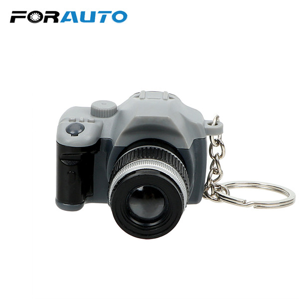 FORAUTO Flash Light & Buzzle Car Styling Funny Toy Car Ornament Key Chain Mini Camera Keyring Auto Accessories