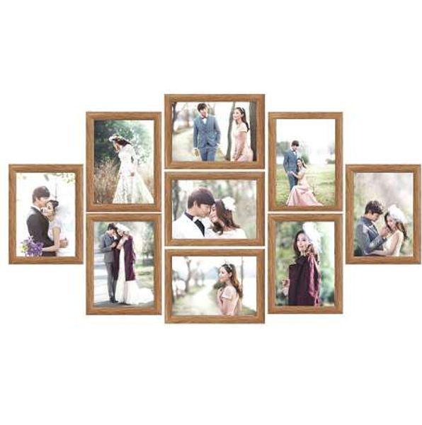 9 Teile / los Bilderrahmen Set Bilderrahmen Familie Collage Bilderrahmen Wandbehang Foto Bild Halter Display Home Wand Decor
