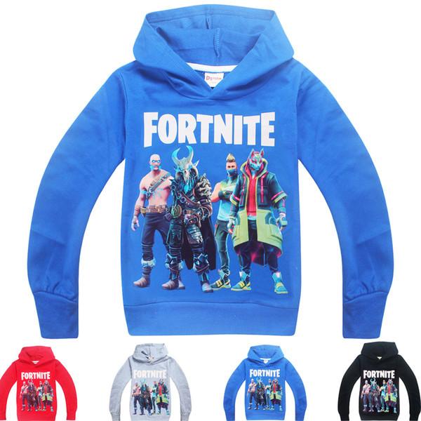 49600fce2 4 Color Boys Girls fortnite hoodie New Children Game Cartoon cotton Long  sleeves t shirt Hoodies