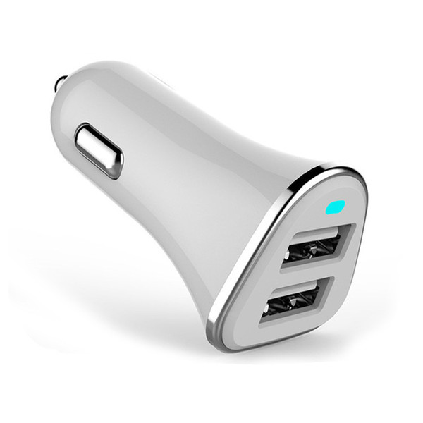 Dual USB Car Phone Charger Adapter For iPhone X 8 7 Samsung S8 Xiaomi Charge 5V 2.4A Universal LED Auto Mobile Car-charger
