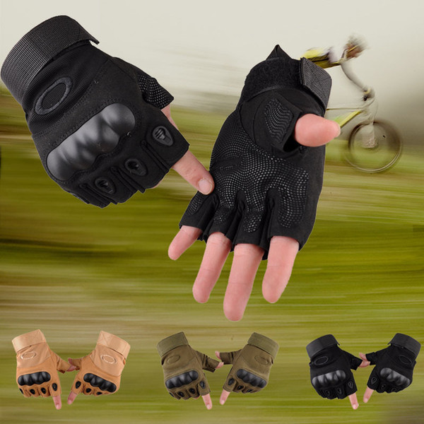 Guanti tattici senza dita all'aperto tiro paintball airsoft bicicletta motocross combattimento duro knuckle mezze dita guanti dda593