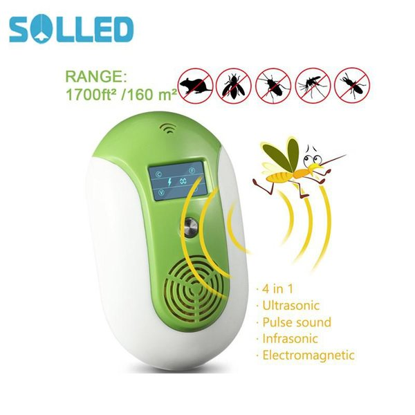 SOLLED Control Electronic Repellent Effective for Bug Insects Cockroaches/Mouse/Flies/Ants/Spiders with Smart Night Light