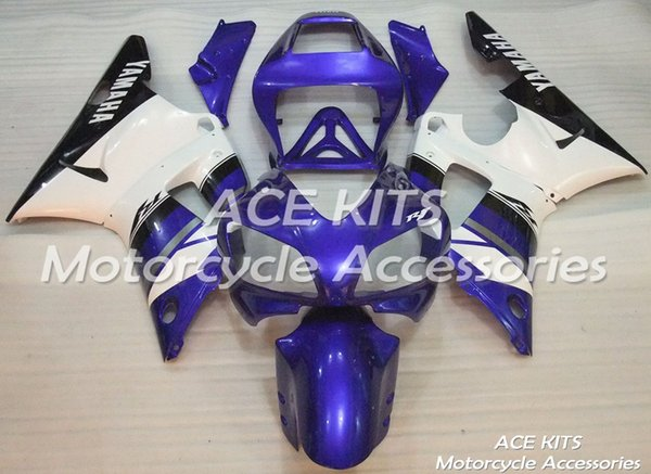 ACE Motorcycle Fairings For YAMAHA YZF R1 1998 1999 Compression or Injection Bodywork splendid blue and white No.1028