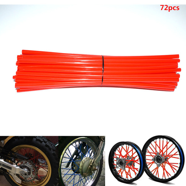 For 36pcs / lot motorcycle wheel spokes wrapped covers Motocross Dirtbike Dirt Bike cool accessories rims Skins Protector