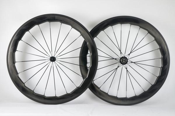 2018 NSW454 Road bike 58mm 454 dimple carbon wheels dimple clincher tubular wheel carbon wheelset 25mm 700c wheels