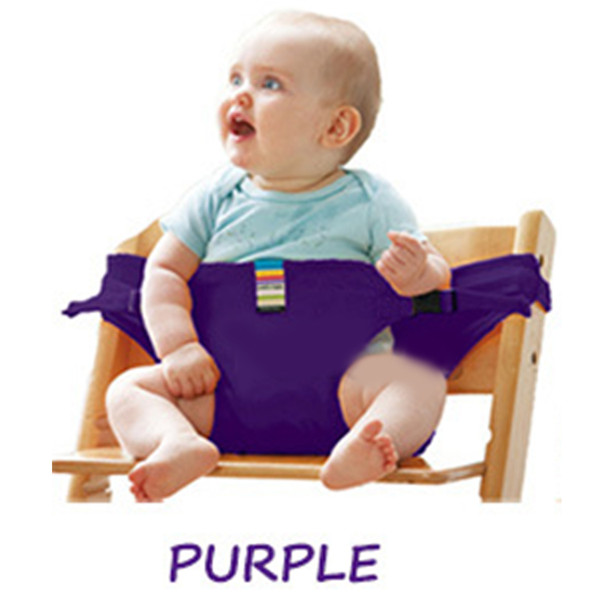 best selling Foldable Baby Chair Safety Belt Portable Seat Lunch Chair Stretch Wrap Feeding Harness Baby Booster Seat