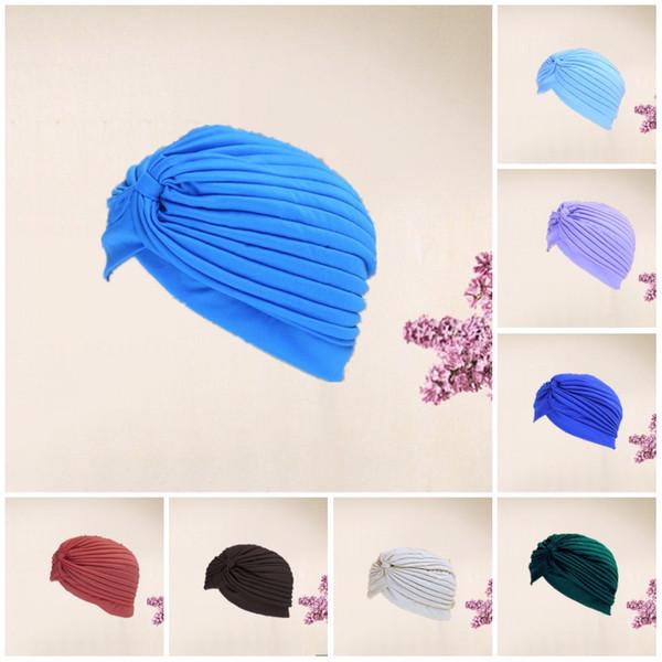 Женщины Индия шапочки складной чистый цвет шляпа мода полиэстер Спорт на открытом воздухе головные уборы Бардианская эластичная сила согреться 2 07hx AZ