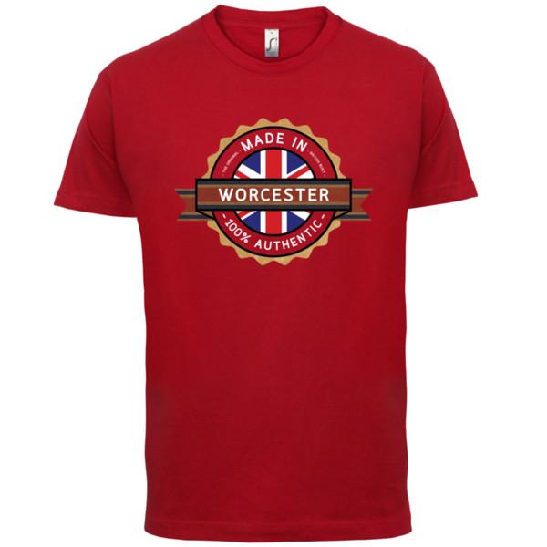 ce702b706b Compre Made In WORCESTER Camiseta Para Hombre Ciudad   Ciudad es A ...