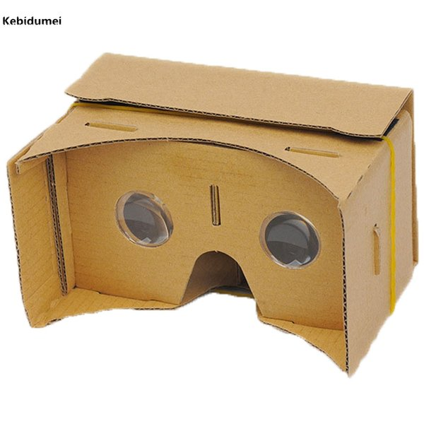 "Kebidumei DIY Google Cardboard 3D VR Box Reality Glasses VR Mobile Phone 3D for 5.0"" Screen Google Movies Games"