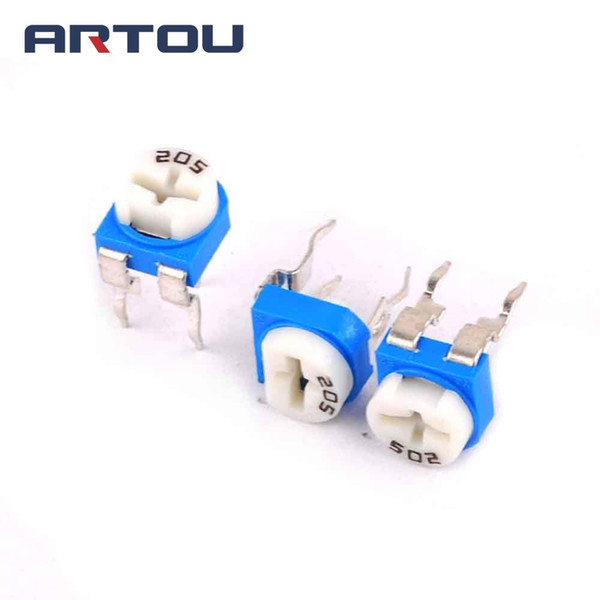10PCS Trimmer Potentiometer RM065 RM-065 2Mohm 205 2M Trimmer Resistors Variable adjustable Resistors