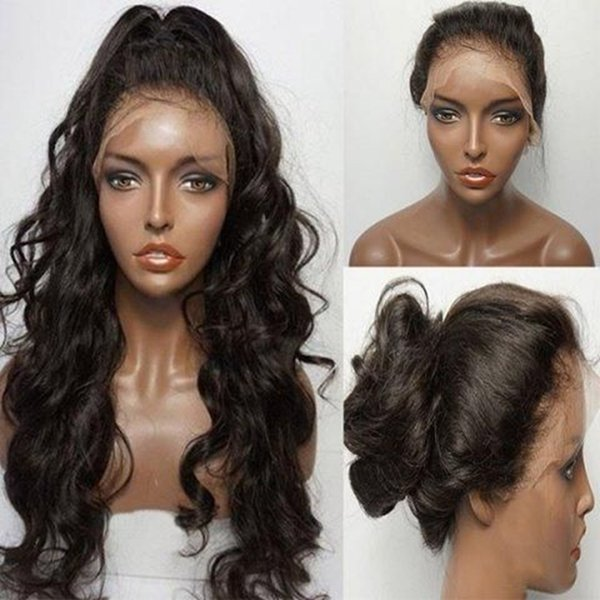 MHAZEL Hair Curly Silk Top Full Lace &Lace Front Human Hair Wigs Brazilian Virgin Remy Hair Glueless Wig
