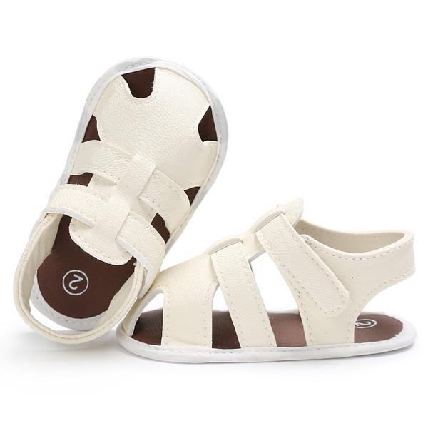 Infant Kid Anti-Slip Sandals Shoes Baby Crochet Shoes Summer Fashion Design Sandals for Little Boys Solid Color Casual Shoes