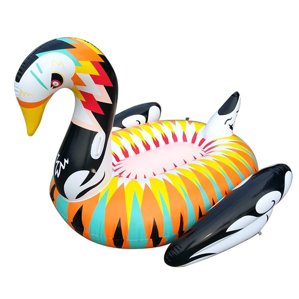 2018 Pool Party floats inflatable 180cm Giant Swan Adults Water Mattress Summer inflatable Pool toys Swimming ring Boat Fast DHL