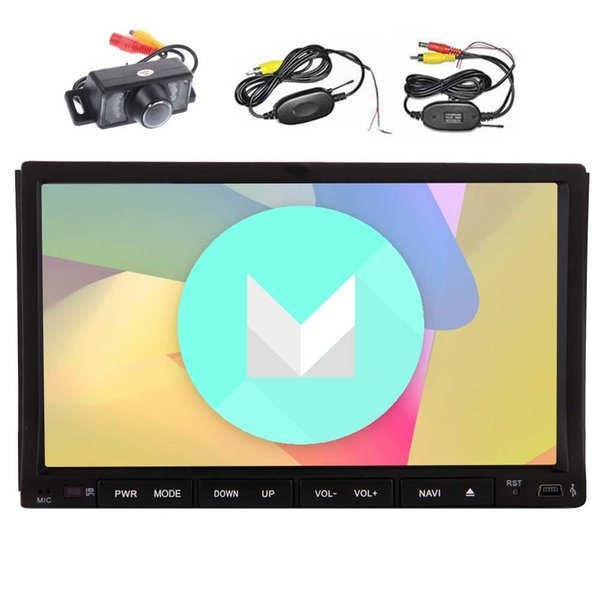 Wireless Rear Camera EinCar Car Stereo Android6.0 Quad Core 7'' Double Din Car DVD Player Touchscreen In Dash GPS Navigation Car Radio
