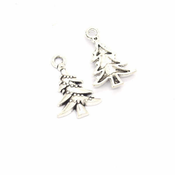 Bulk 500 pcs lot 21 * 14mm metal árbol de Navidad encantos colgante bueno para el arte de DIY joyería que hace