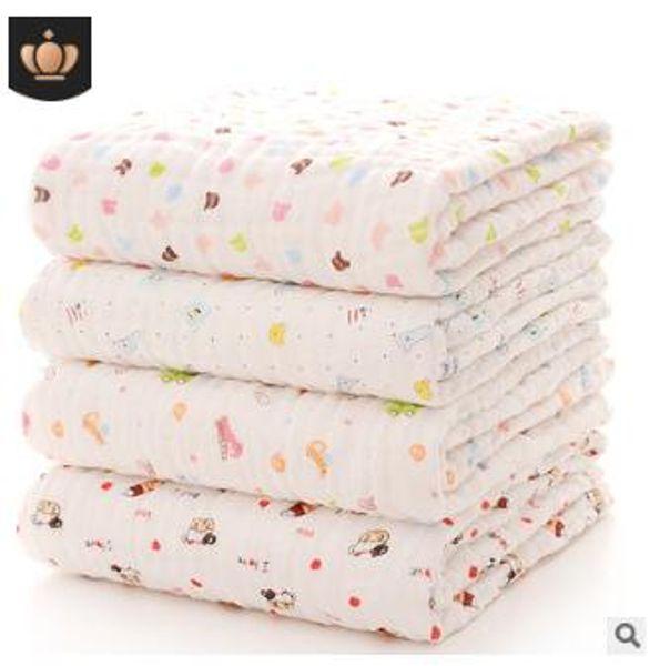 Baby pure cotton bath towel blanket newborn quilt robes six layers good quality bath towles newborn christmas gifts 110x115cm 209