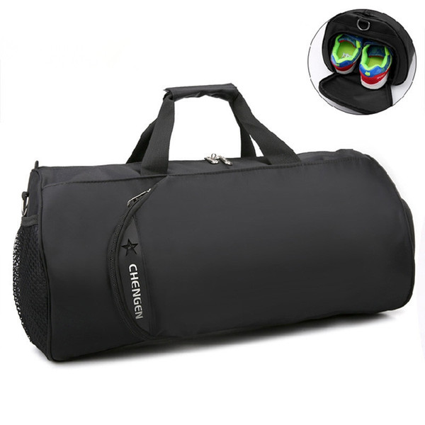 2018 New Waterproof Gym Bag Fitness Training Sports Bag Portable Shoulder Travel Independent Shoes Storage sac de sport