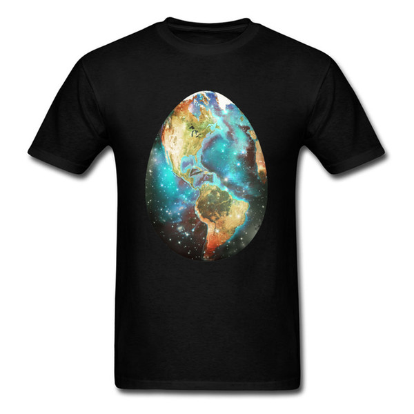 Earthly Egg T Shirt Printed Birthday Gift T Shirts Mens Tshirt Black Clothes 100% Cotton Fabric Tops Tees Hipster Unique Street