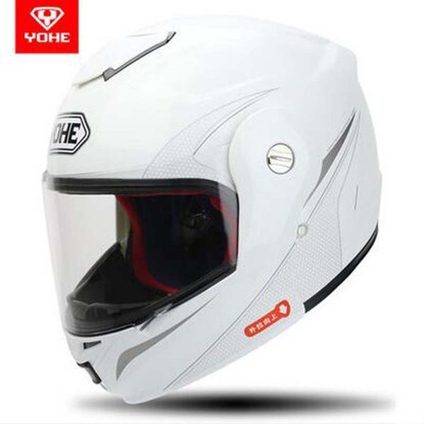 2107 New Open Face motorcycle helmet YH-973 Flip Up motorbkie helmets Full face helmets Electric safety helmet Transparent lens
