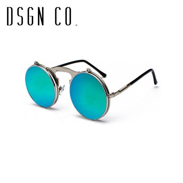 Cadre Silver Green Blue Lens