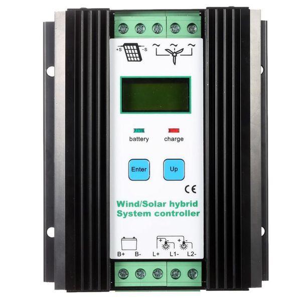 Freeshipping Wind&Solar Hybrid PWM Controller(600W Wind+400W Solar) 12V/24V Automatic