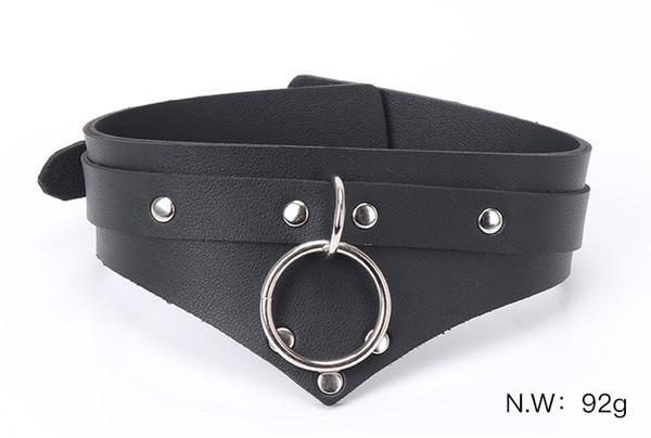 Lady Black Neck Ring Punk Style Bondage Sex Necklace BDSM Toys Bondage Necklace For Couples Women erotic Adult Games