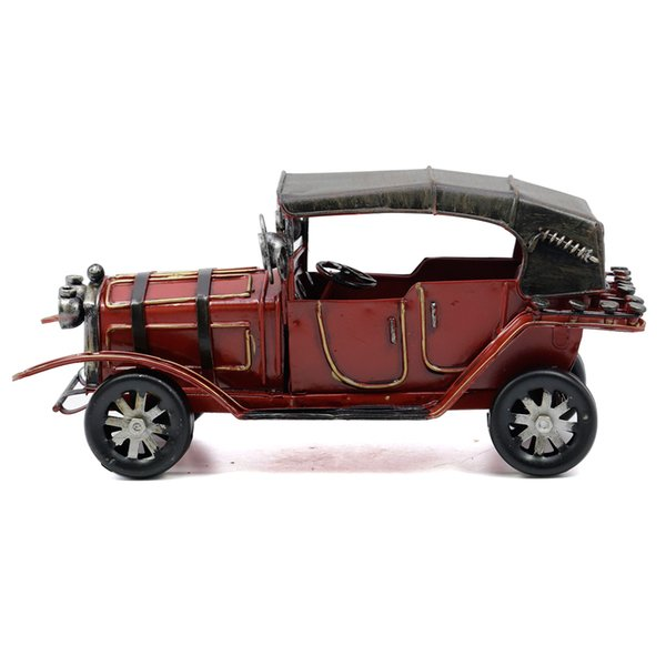Mettle New Arrival Length 22CM Antique Style Metal Car Vintage Old Car Model Handmade Article for Home Decoration