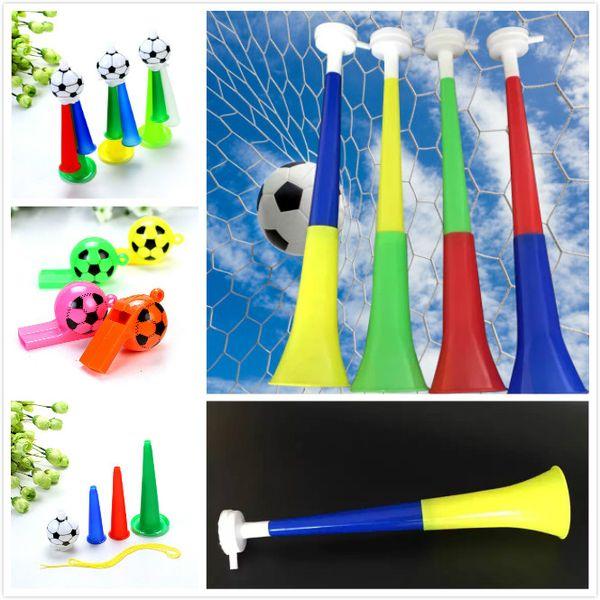 2018 World Cup Football Fan Whistle Plastic Horn Speaker Cheer Horns Flag Speaker Whistle Noise Maker Novelty Item