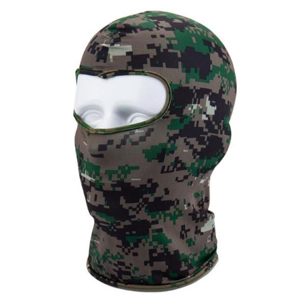 Camouflage Tactical Headgear CS Mask Outdoor Sports Cap Bicycle Cycling Fishing Motorcycle Masks Ski Balaclava Halloween Full Face Mask