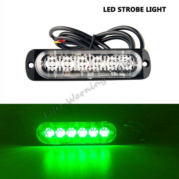 free shipping 2x 6 LED strobe light amber safety emergency warning light for 4x4 pickup truck trailer vehicles heavy duty trucks flash lamp