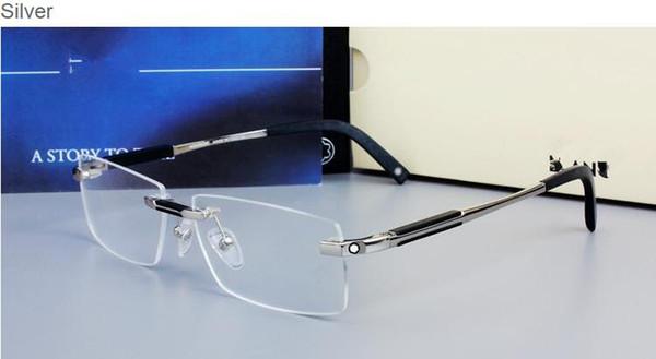 0349 Marque Design Rimless Lunettes Large Spectacle Hommes Carré montures de lunettes titane lunettes de prescription lentille cadre optique lunettes MB